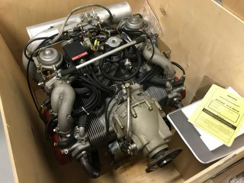 Rotax 914 UL 3-01 engine with handbook and logbook